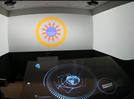 科技馆互动甩屏系统展示